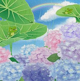 7th 2021 かえる&紫陽花